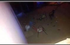 O douradense foi atingido quando estava sentado na cadeira. Ele morreu no local. Foto: divulgação