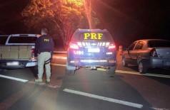 PRF apreendeu caminhonete com 1,526 tonelada de maconha em Guia Lopes da Laguna — Foto: PRF/Divulgação