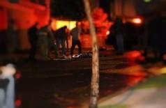 Rapaz  foi morto com tiro no peito em tentativa de assalto. (Foto: Kísie Aionã/ CAMPO GRANDE NEWS)