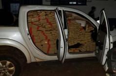 Droga apreendida na caminhonete em MS — Foto: PM/Divulgação
