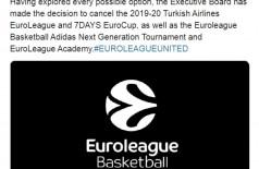 Euroliga 2019/2020 é cancelada (Foto: reprodução/Turkish Airlines EuroLeague )