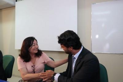 Prefeita deu posse à atual diretoria do Previd em maio do ano passado (Foto: A. Frota)
