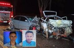 Jovens morrem na hora com o impacto da colisão - Fotos: Sidnei Bronka
