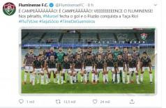 Fluminense supera Flamengo e conquista Taça Rio (Foto: reprodução/Instagram)