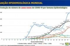 Covid-19: Brasil tem 1,96 milhão de casos e 75,3 mil mortes (Foto: reprodução/Ministério da Saúde)