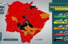 Mapa Situacional por Municípios da 28ª Semana Epidemiológica (Foto: Reprodução)