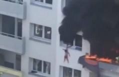 Crianças pulam de prédio na França e escapam de incêndio; vídeo tem imagens fortes (Foto: reprodução)