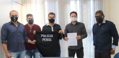 Deputado esteve reunido com o sindicato e apoia criação da Polícia Penal (Foto: Divulgação)
