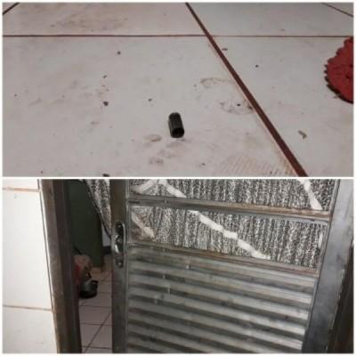 Porta que foi arrombada por suspeitos. Foto: Olimar Gamarra/Rio Brilhante em Tempo Real