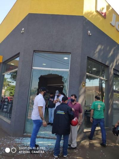 Caso ocorreu neste sábado em Dourados - Fotos: Divulgação