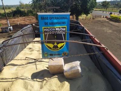 BPMRv apreende 6 toneladas de maconha em carga de arroz no MS — Foto: BPMRv/Divulgação
