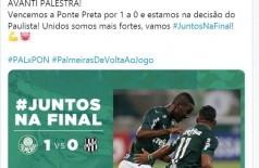 Palmeiras passa pela Ponte e está na decisão do Paulista (Foto: reprodução/Twitter- SE Palmeiras)