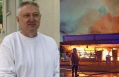 Dono incendeia supermercado para 'acabar com o coronavírus' (Foto: reprodução)