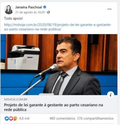 Deputada em São Paulo, Janaína Paschoal declarou total apoio ao projeto de Marçal Filho (Foto: Reprodução)