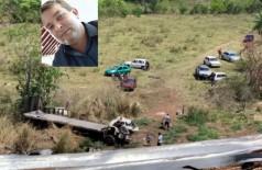 Adriano foi arremessado da cabine do caminhão