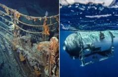 Turista visitarão o local do naufrágio do Titanic em submarino especial Foto: Reprodução/OceanGate Expeditions