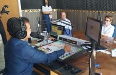 Ministra Tereza Cristina concedeu entrevista no Programa Marçal Filho(Foto: Vanessa Freixo/94FM)