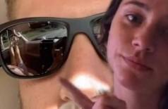 Óculos escuram entregaram traição para Sydney Kinsch (Foto: Reprodução/TikTok)