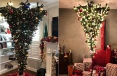 Árvores de Natal invertidas: tendência natalina (Foto: Reprodução/Instagram)