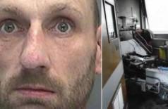Lee Williams provocou incêndio quando estava com máscara de oxigênio e acendeu ciagarro (Foto: Divulgação/Crown Prosecution Service)