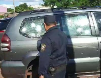 Homem foi executado em Pedro Juan e tiros atingiram mulher e garota - Foto: Frontera Seca News
