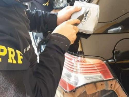 PRF apreende cocaína que saiu de Dourados avaliada em R$ 1,2 milhão