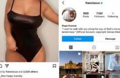 Conta do Papa curte foto de outra modelo no Instagram - Foto: Reprodução