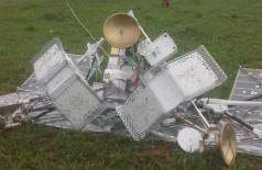 Balão satélite foi encontrado em fazenda de MS - Foto: BNC Notícias