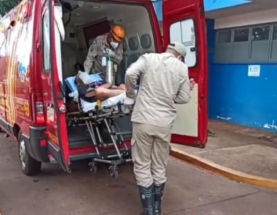 Rapaz foi socorrido ao Hospital da Vida - Foto: Reprodução