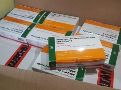 Dourados recebeu primeiro lote de vacinas contra a Covid hoje (Foto: Divulgação/Prefeitura)