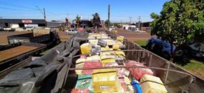 DOF realiza maior apreensão de 2021: quase 21 toneladas de maconha