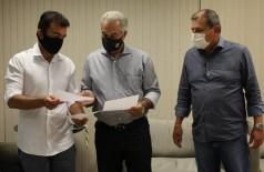 Marçal em agenda com o governador Reinaldo e o secretário Sérgio de Paula