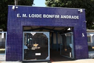Na Escola Municipal Loide Bonfim Andrade, além de dar o suporte ao aluno, pequenos reparos serão realizados no prédio da instituição (Foto: Divulgação/Prefeitura)