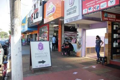 Região comercial de Dourados (Foto: Assecom)