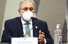Ministro presta depoimento em CPI no Senado (Foto: Marcelo Camargo/Agência Brasil)