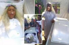 Mulher aluga caixão para ensaiar o próprio funeral e exige que amigos chorem na cerimônia