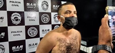 Fernando Souza Gonçalves foi preso no dia seguinte ao crime (Foto: Sidnei Bronka)