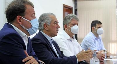 Videoconferência também contou com participação do secretário de Fazenda de MS, Felipe Mattos (esquerda) (Foto: Chico Ribeiro)