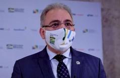Marcelo Queiroga presenciou hoje em SP entrega de leitos de UTI (Foto: Ministério da Saúde/Divulgação)