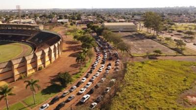 Imagem aérea do Pavilhão de Eventos. Foto: Hallino Soares