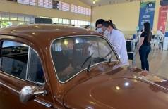 Todas as doses 1 foram aplicadas nesta quarta-feira no Pavilhão de Eventos Dom Teodardo Leitz (Foto: Divulgação/Prefeitura)