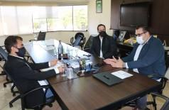 Deputado Marçal esteve com o Secretário Henrique Sartori e o prefeito Alan, que garantiu permanência da PAI no mesmo prédio (Foto: Divulgação)