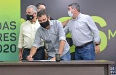 Deputado Marçal durante ato de liberação de recursos em Campo Grande - Foto: Gildo Tavares