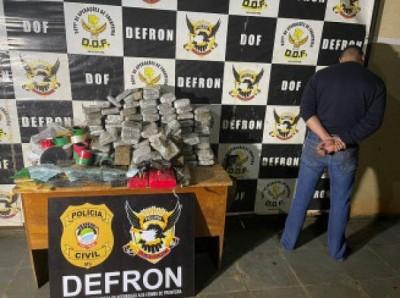 Protético é preso com arma e 46 quilos de skunk em Dourados