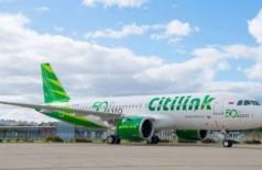 Avião da Citilink (imagem meramente ilustrativa) Foto: Reprodução