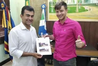 Deputado Marçal e o prefeito de Rio Brilhante, Lucas Foroni   - Crédito: Divulgação