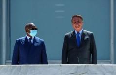 Presidente do país africano foi recebido por Bolsonaro em Brasília (Foto: Isac Nóbrega/PR)
