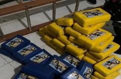 A droga estava escondida em obra inacabada  (Foto: Divulgação/GovernoMS)