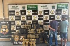 Defron prende paraguaios com quase 400 quilos de maconha