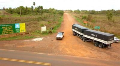Estrada da Picadinha: pavimentação representa mais segurança para os usuários (Foto: Chico Ribeiro/Divulgação-GovernoMS)
